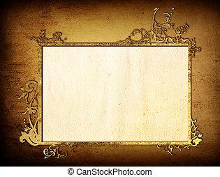 alkat, mód, hely, háttér, frame-with, tervezés, virágos, -e