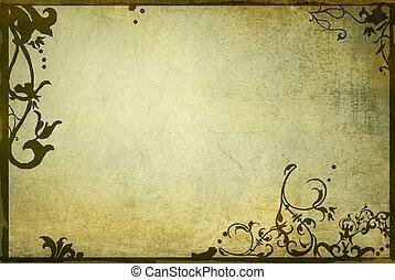 alkat, virágos, mód, háttér, keret