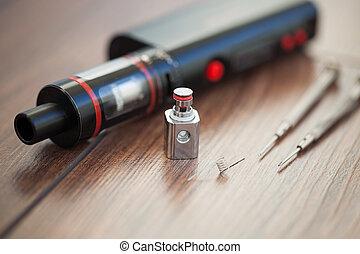 alkatrészek, noha, kanthal, felteker, helyett, e-cigarette, vaporizer