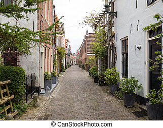 Historic old town of Alkmaar, North Holland, Netherlands,...
