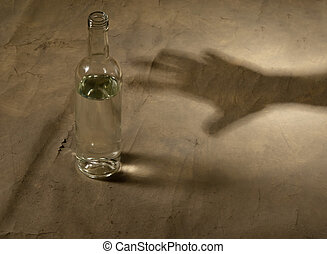 alkohol, flasche