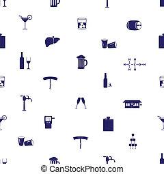 alkohol, napití, ikona, seamless, model, eps10