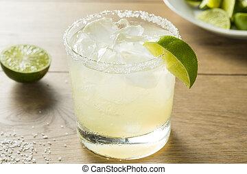 alkoholiker, limette, margarita, mit, tequila
