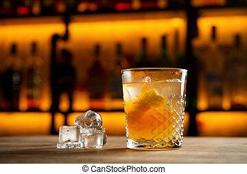 alkoholista, limonádé, koktél, pohár, finom, lynchburg