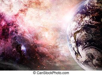 alkotás, közül, földdel feltölt