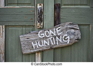 allé, hunting.