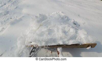 allée, neige, déblayement