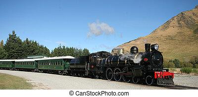 Old steam train in NZ