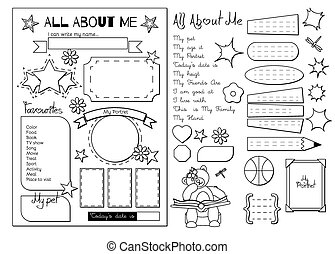 All about me. School Printable - Back to School. All About ...