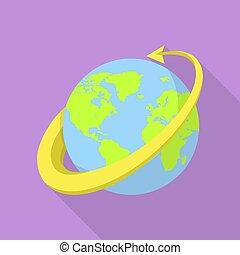 All around the globe icon, flat style