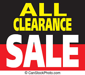 All Clearance Sale Promotion Label