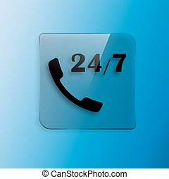 All-day customer support call-center icon