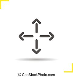 All directions movement arrows glyph icon