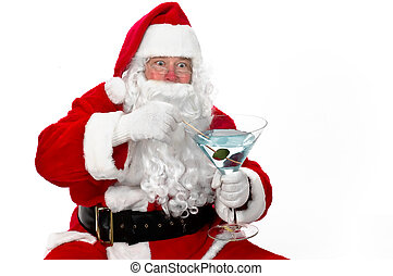 All Done! - Santa Claus having a cocktail after finishing...