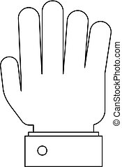 All finger icon, outline style.