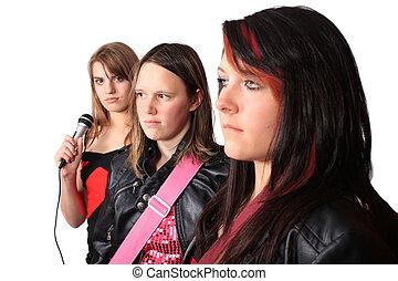 All girl teenage musical band