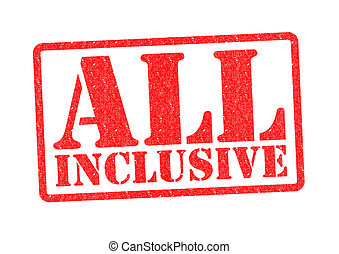 ALL INCLUSIVE Rubber stamp over a white background.