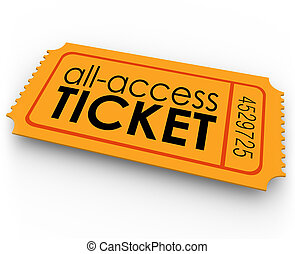 all infart, biljett, för, ritt, film, visa, konsert,...