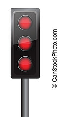 all lights in red illustration