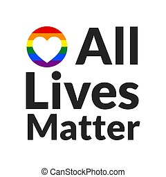 All Lives Matter concept. Template for background, banner, poster with text inscription. Vector EPS10 illustration