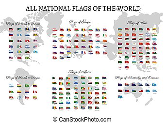 All national flags of the world.
