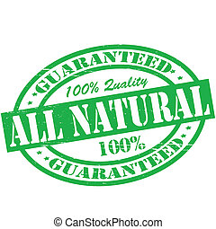All natural - Stamp with text all natural inside, vector...