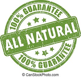 All natural guarantee stamp