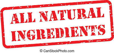 All Natural Ingredients Rubber Stamp - All natural...