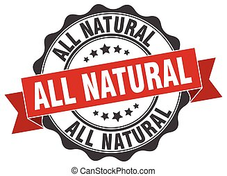 all natural stamp. sign. seal