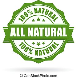All natural vector icon on white background