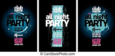 All Night Party design templates.