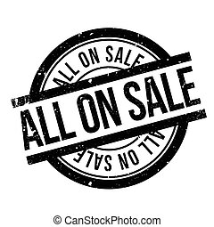 All On Sale rubber stamp. Grunge design with dust scratches....