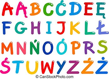 all Polish alphabet letters set