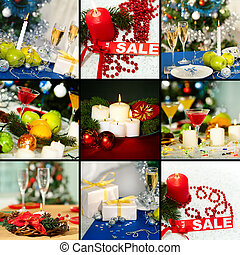 All prepared for xmas - Collage of holiday objects on...