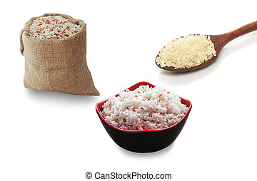 All rice collection isolated, Clipping path