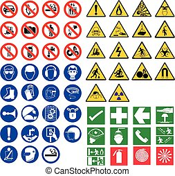 all safety signs vector