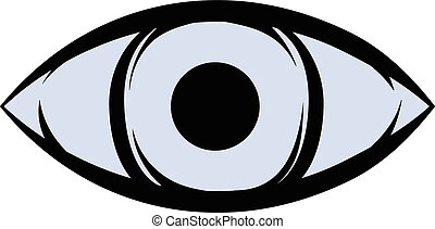 All-seeing eye icon cartoon - All-seeing eye icon in cartoon...