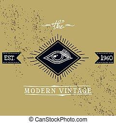 all seeing eye of horus theme vector art illustration