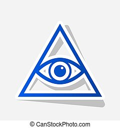 All seeing eye pyramid symbol. Freemason and spiritual. ...