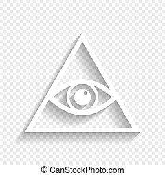 All seeing eye pyramid symbol. Freemason and spiritual. ...