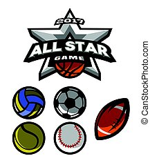 All star game, logo, emblem.