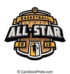 All stars of basketball, logo, emblem.