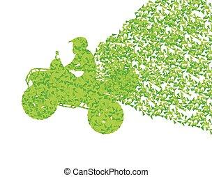 All terrain vehicle quad motorbike rider concept