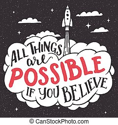 All things are possible if you believe card
