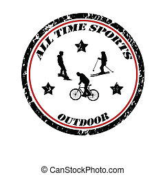 All time sports stamp