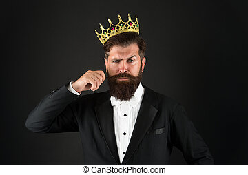 All what they say is true. Handsome bearded guy king. King ...