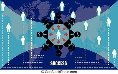 all world is connected with people to get success