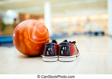 All you need for bowling is a pair of shoes and a ball