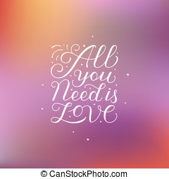 All you need is love - Vector photo overlay design elements...
