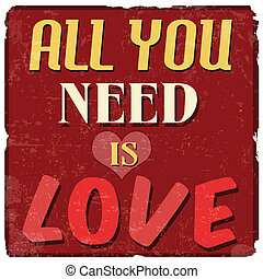 All you need is love poster - All you need is love, vintage...